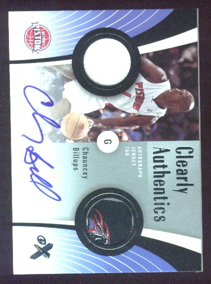 2006-07 E-X Clearly Authentics Jersey Tags Autographs #CABI Chauncey Billups