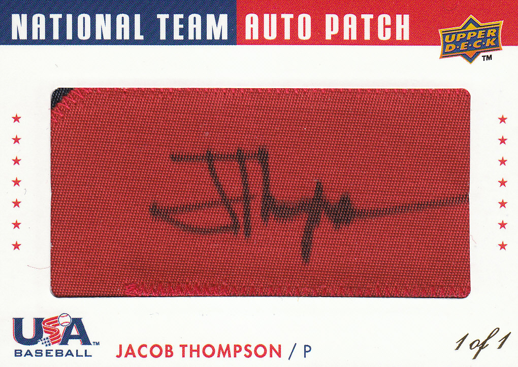 2008 Upper Deck USA National Team Patch Autographs #JT Jacob Thompson front image
