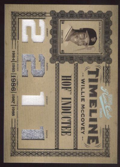 2005 Prime Cuts Timeline Material Custom Numbers #28 W.McCovey J-J-P-P/50