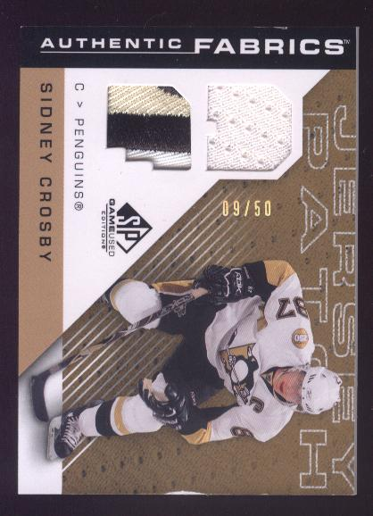 2007-08 SP Game Used Authentic Fabrics Patches #AFSC Sidney Crosby
