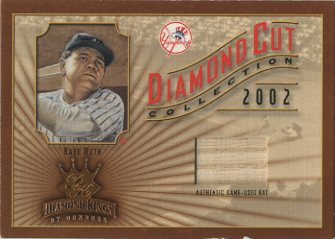 2002 Diamond Kings Diamond Cut Collection #DC97 Babe Ruth Bat/100