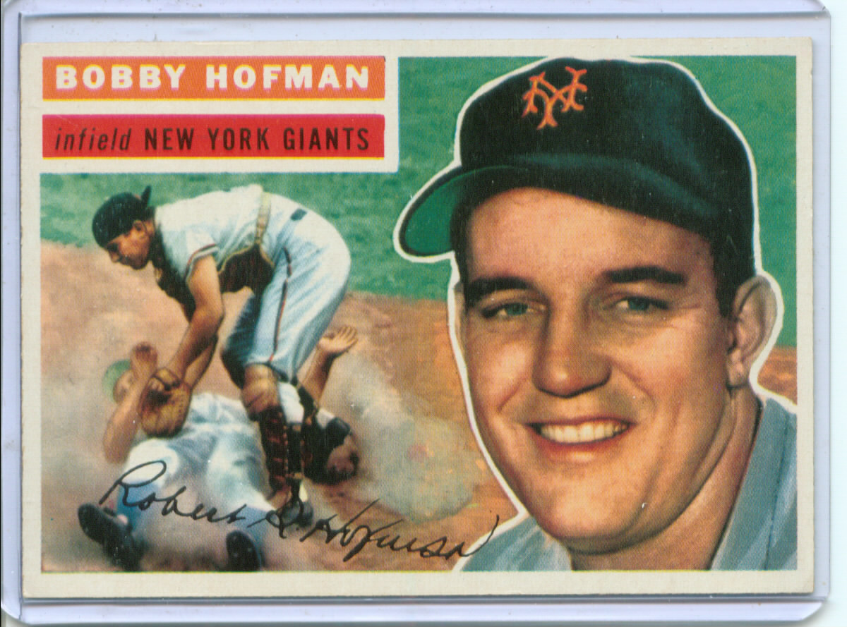 1956 Topps #28 Bobby Hofman