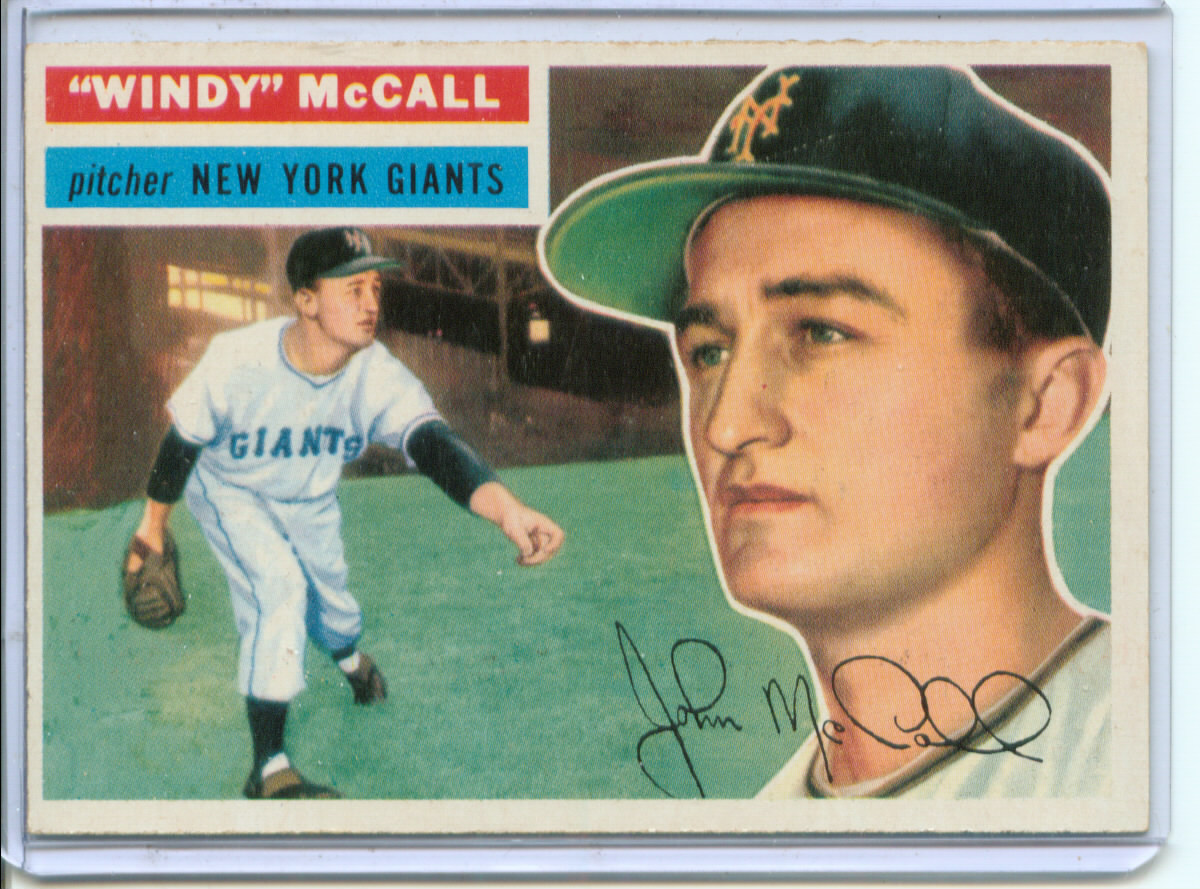 1956 Topps #44 Windy McCall