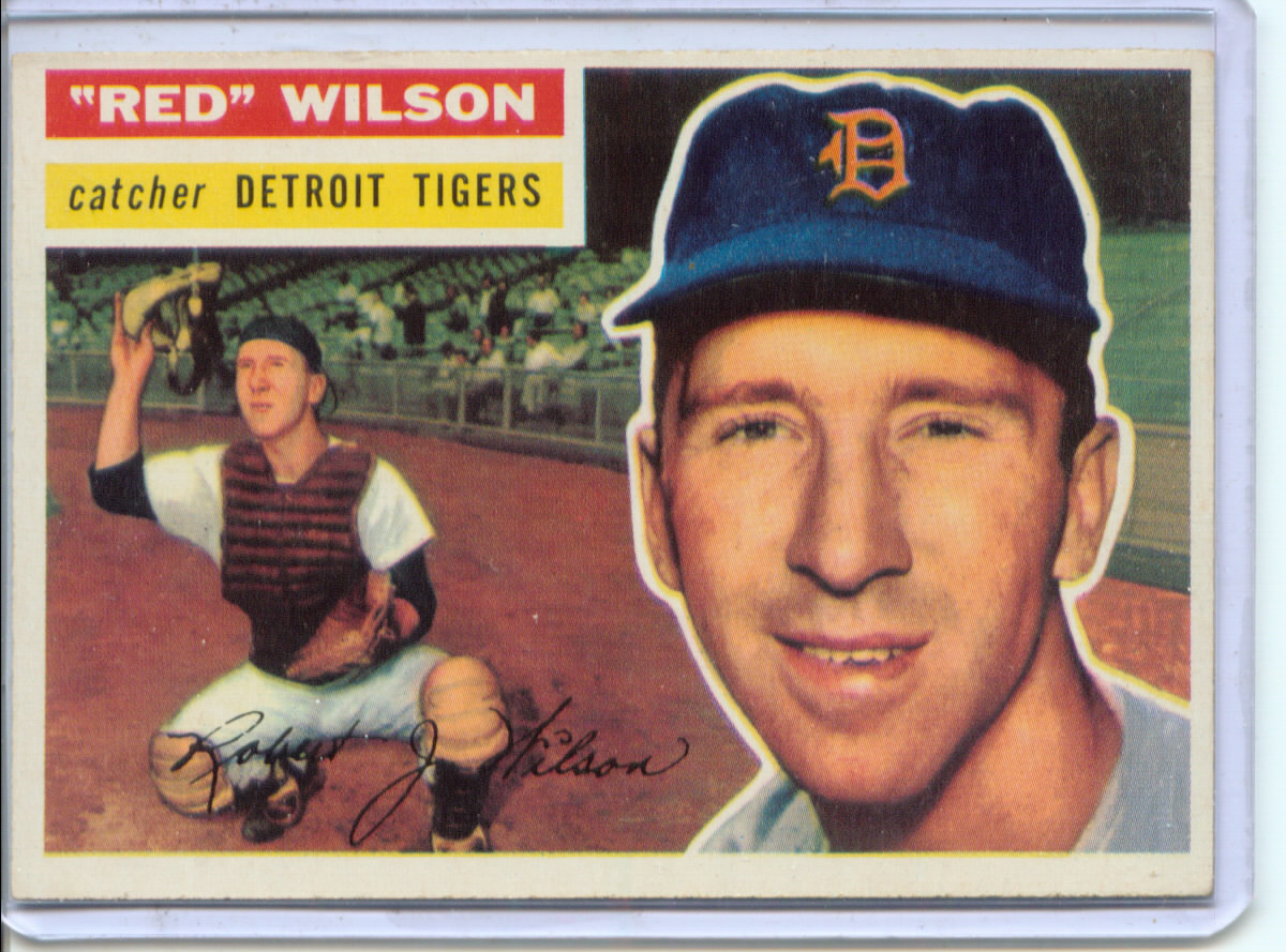 1956 Topps #92 Bob (Red) Wilson