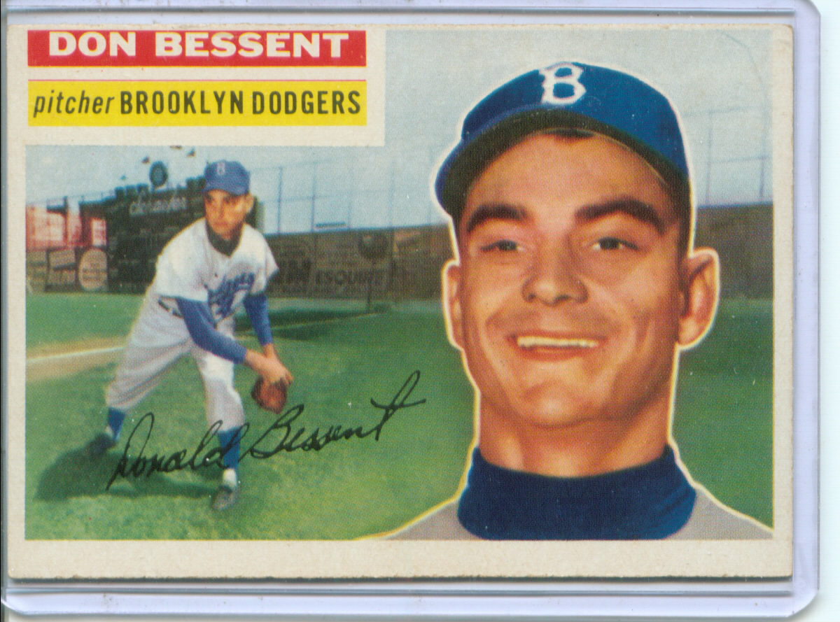 1956 Topps #184 Don Bessent RC