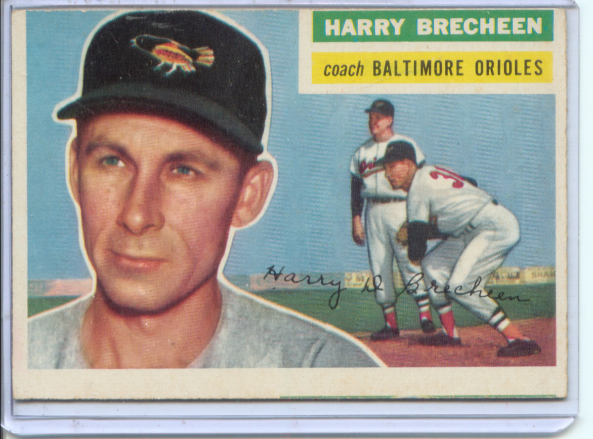 1956 Topps #229 Harry Brecheen CO