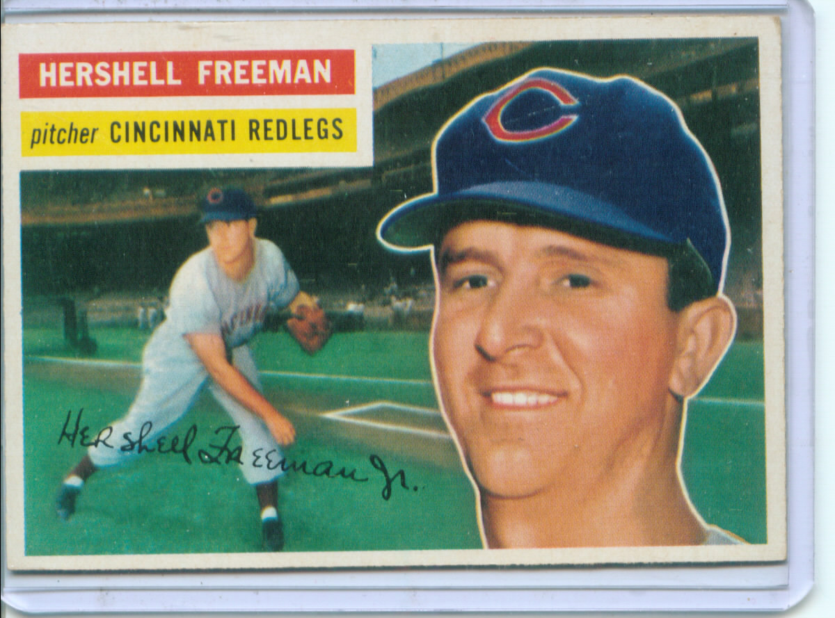 1956 Topps #242 Hershell Freeman