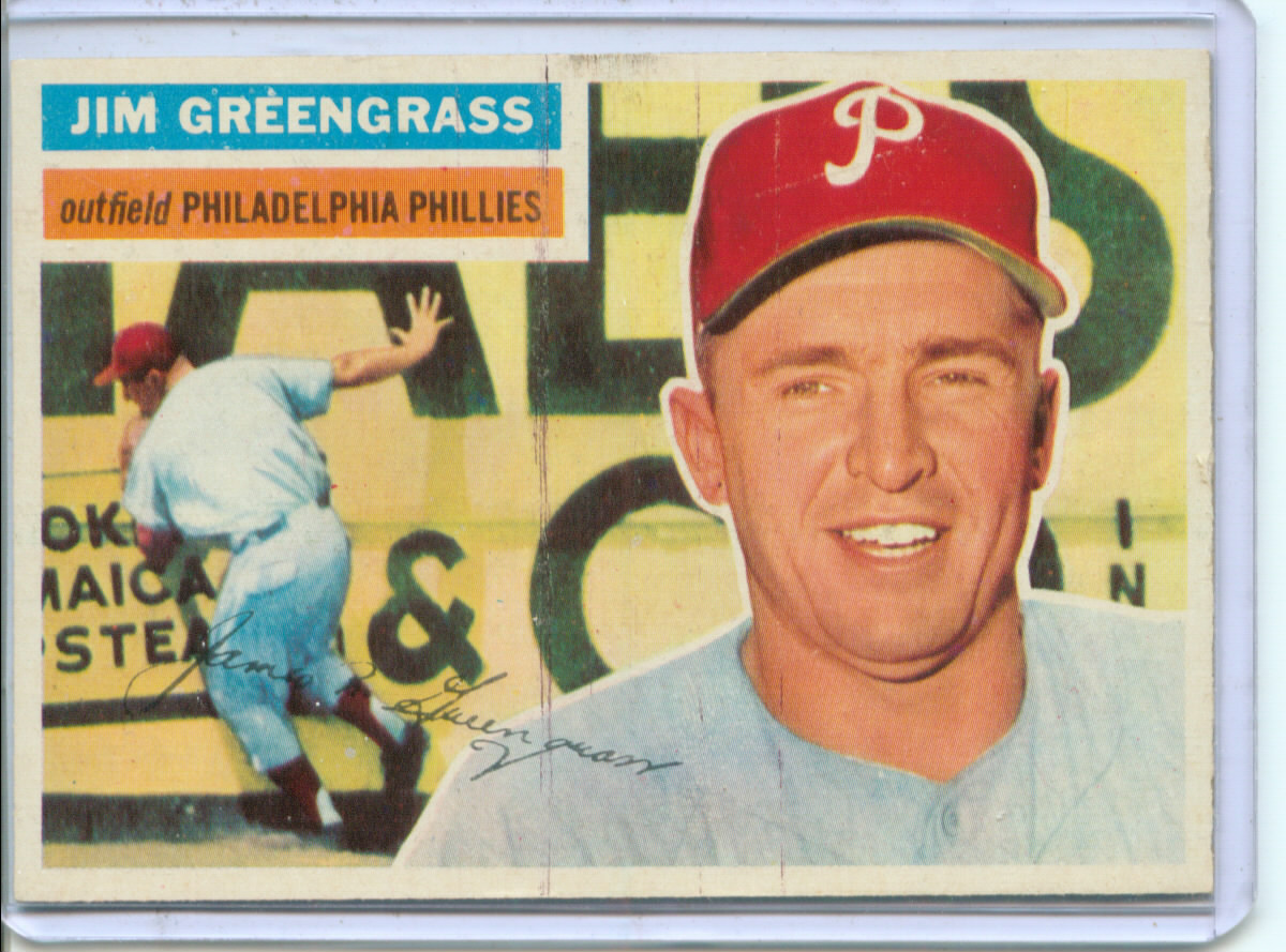 1956 Topps #275 Jim Greengrass