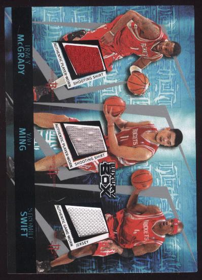 2005-06 Topps Luxury Box Triple Double 5 Relics 25 #24 Tracy McGrady/Yao Ming/Stromile Swift/Luther Head/Dikembe Mutombo