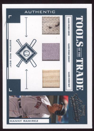 2004 Absolute Memorabilia Tools of the Trade Material Trio #85 Manny Ramirez Sox/25