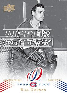 2008-09 Upper Deck Montreal Canadiens Centennial #9 Bill Durnan