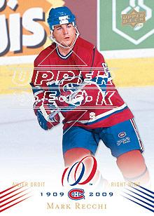 2008-09 Upper Deck Montreal Canadiens Centennial #38 Mark Recchi