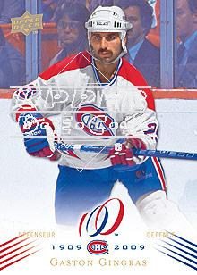2008-09 Upper Deck Montreal Canadiens Centennial #100 Gaston Gingras