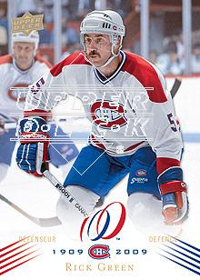 2008-09 Upper Deck Montreal Canadiens Centennial #102 Rick Green