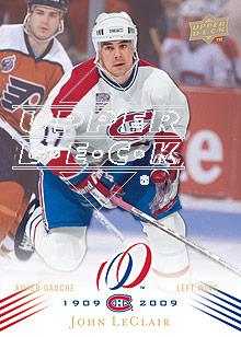 2008-09 Upper Deck Montreal Canadiens Centennial #121 John LeClair