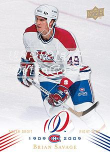 2008-09 Upper Deck Montreal Canadiens Centennial #134 Brian Savage