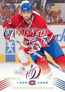 2008-09 Upper Deck Montreal Canadiens Centennial #173 Christopher Higgins