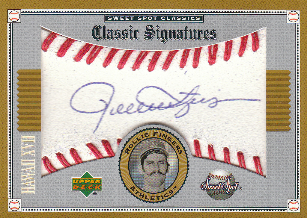 2002 Sweet Spot Classics Hawaii Signatures #SRF Rollie Fingers/25