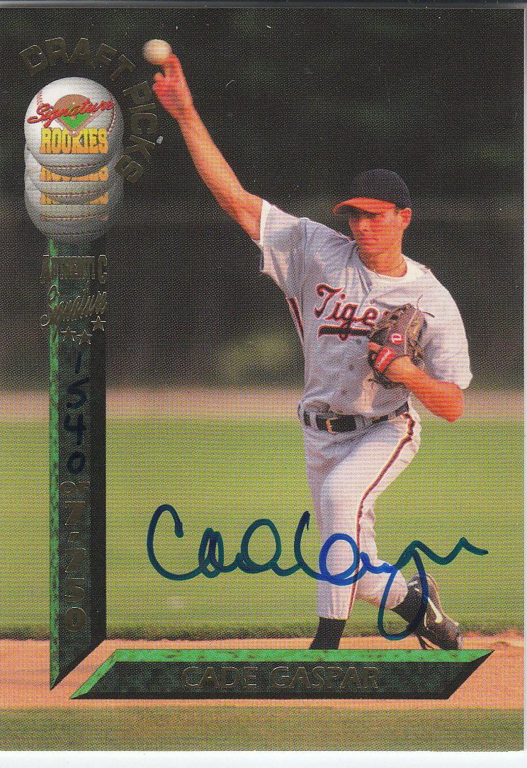 1994 Signature Rookies Draft Picks Signatures #18 Cade Gaspar
