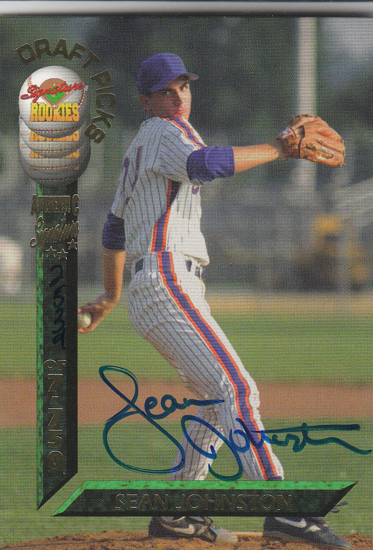 1994 Signature Rookies Draft Picks Signatures #33 Sean Johnston