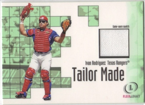 2001 Fleer Legacy Tailor Made #20 Ivan Rodriguez