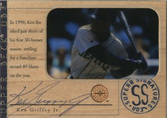 1997 UD3 Superb Signatures #2 Ken Griffey Jr. front image