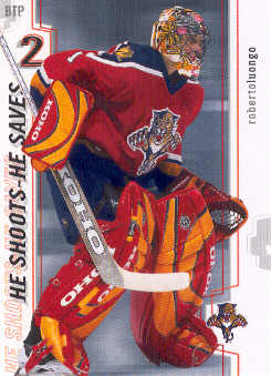 2002-03 Between the Pipes He Shoots-He Saves Points #15 Roberto Luongo 2 pt.