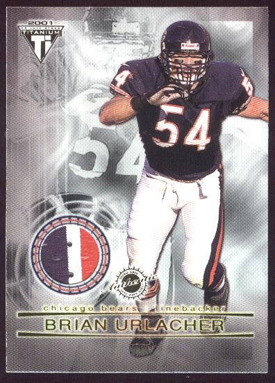 2001 Titanium Double Sided Jerseys #61 Brian Urlacher/Zach Thomas front image