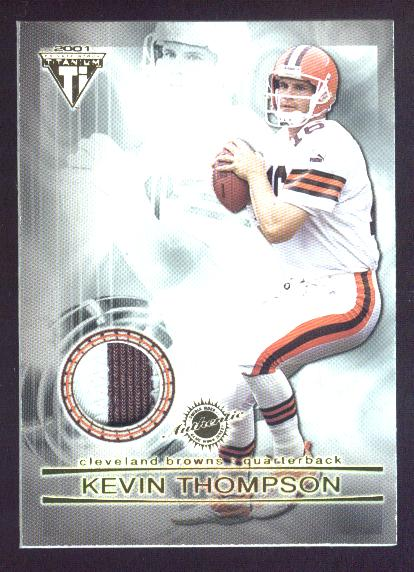 2001 Titanium Double Sided Jerseys Patches #68 Kevin Thompson/Jamel White