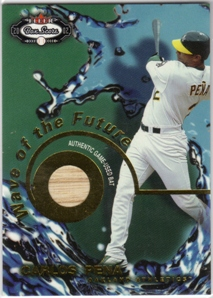 2002 Fleer Box Score Wave of the Future Game Used #8 Carlos Pena Bat