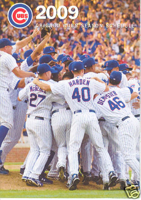 2009 Chicago Cubs Pocket Schedule ~ 2008 Championship Celebration Cover