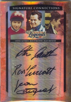 2008 Donruss Sports Legends Signature Connection Triples #2 Steve Cauthen/Ron Turcotte/Jean Cruguet/250
