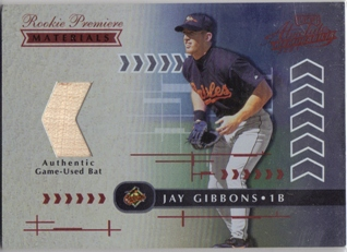 2001 Absolute Memorabilia #190 Jay Gibbons RPM RC