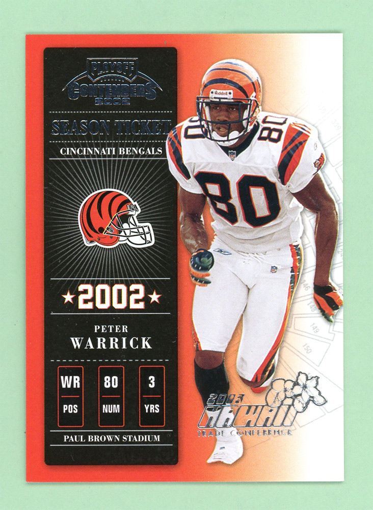 2002 Playoff Contenders Hawaii 2003 #18 Peter Warrick front image