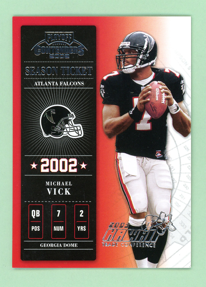 2002 Playoff Contenders Hawaii 2003 #76 Michael Vick front image