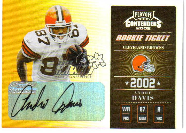 2002 Playoff Contenders Hawaii 2003 #105 Andre Davis AU