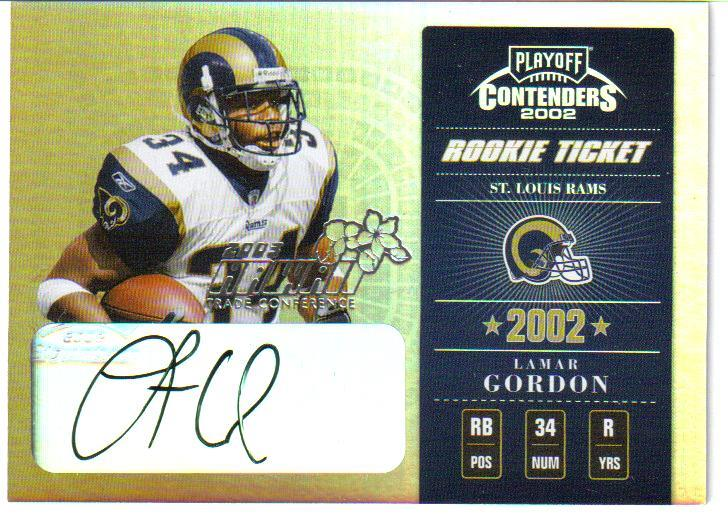 2002 Playoff Contenders Hawaii 2003 #150 Lamar Gordon AU