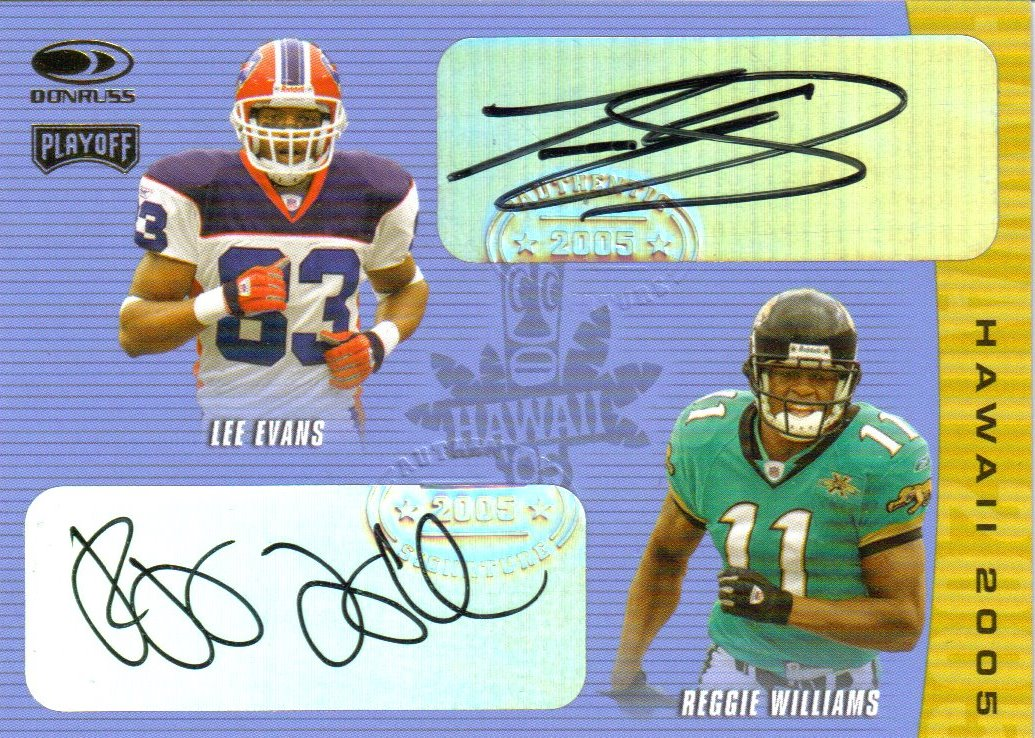2005 Donruss/Playoff Hawaii Trade Conference Autographs #8 Lee Evans/Reggie Williams