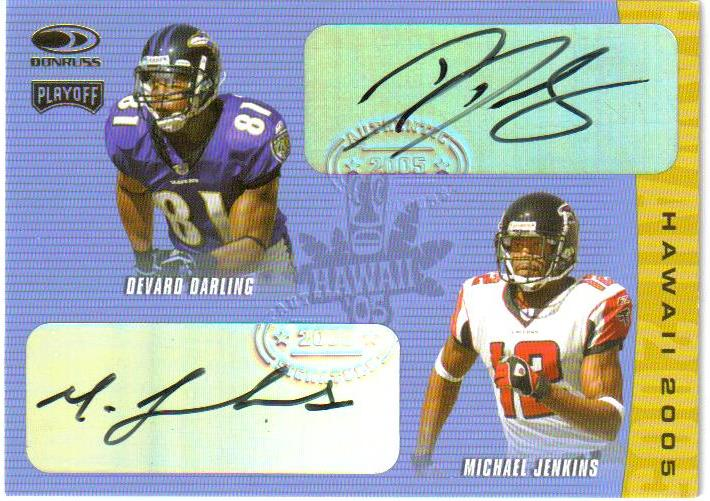 2005 Donruss/Playoff Hawaii Trade Conference Autographs #16 Michael Jenkins/Devard Darling