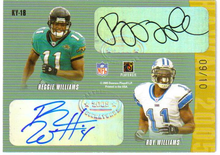 2005 Donruss/Playoff Hawaii Trade Conference Autographs #18 Roy Williams/Michael Clayton/Lee Evans/Reggie Williams