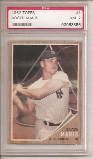 1962 Topps #1 Roger Maris