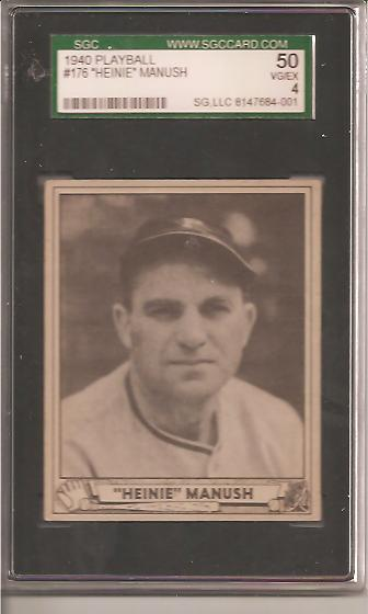 1940 Play Ball #176 Heinie Manush