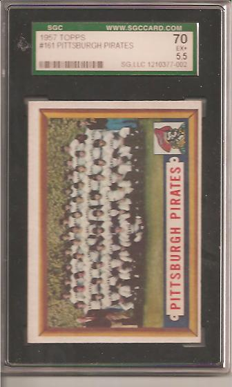 1957 Topps #161 Pittsburgh Pirates TC