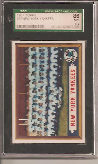1957 Topps #97 New York Yankees TC front image