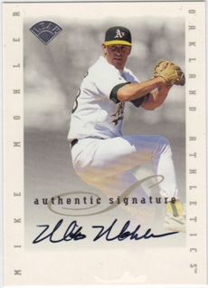 1996 Leaf Signature Extended Autographs #129 Mike Mohler