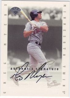 1996 Leaf Signature Extended Autographs #135 Greg Myers