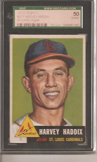1953 Topps #273 Harvey Haddix RC