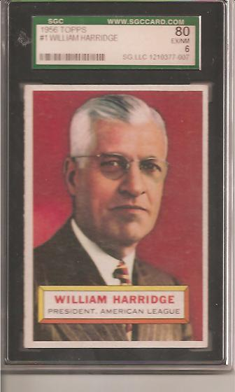 1956 Topps #1 Will Harridge PRES