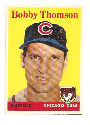 1958 Topps #430 Bobby Thomson
