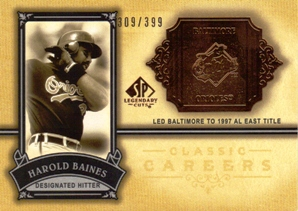 2005 SP Legendary Cuts Classic Careers #HB Harold Baines